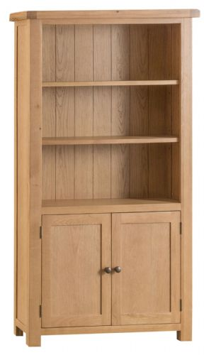 Cornish Oak Large 2 Door Bookcase
